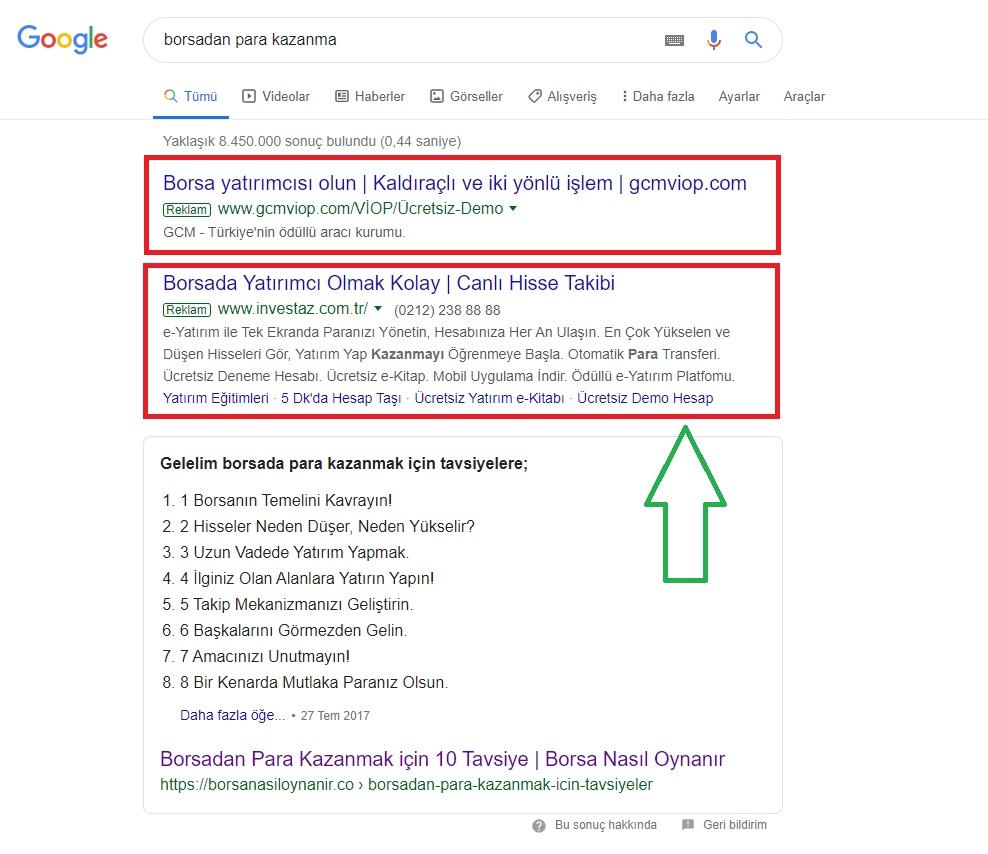 google adwords reklamlari