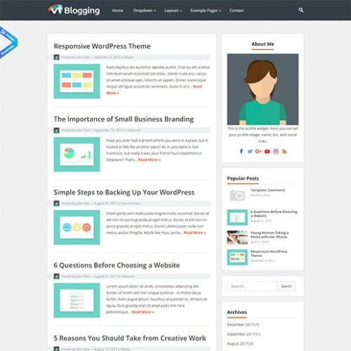 ucretsiz wordpress blog temasi vt blogging
